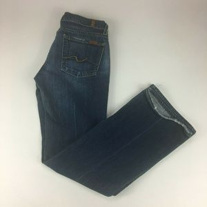 7 For All Mankind Bootcut Dark Wash Womens Jeans